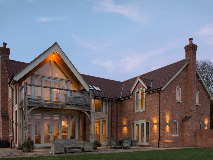 architecture property exterior twilight
