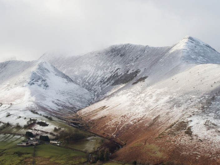 Valley between Causey Pike & Ard Crags
